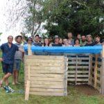 Réalisation d'un compost avec la force du nombre lors du PDC à Dunham, Québec